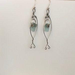 Jewelry - 🐠 SEA-GLASS FISH {Wire} EARRINGS